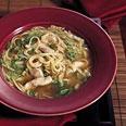 Chinese Chicken Noodle Soup with Sesame and Green Onions...this was SO good, perfect for a sick day.