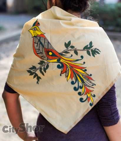 Hand-painted Silk Sarees and Scarves from Bhila !!