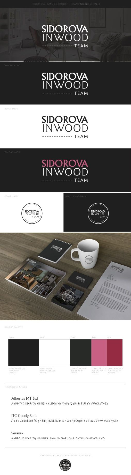 The completed branding guidelines we did for the Sidorova Inwood real estate team.