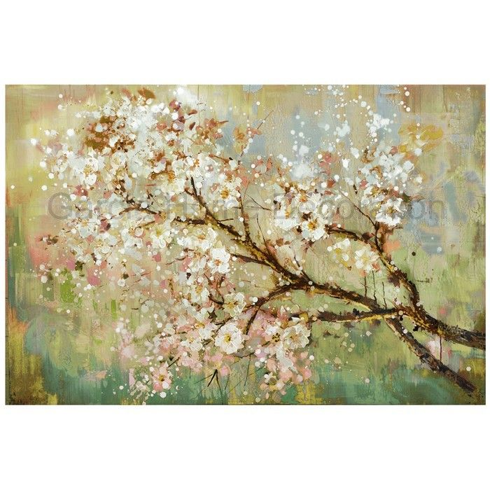 Hand Painted Modern Beautiful Flower On The Tree Oil Painting Home Decoration Living Room Wall Art Picture On Canvas Cuadros