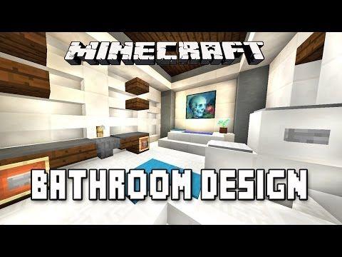 Minecraft Tutorial How To Make A Modern Bathroom Design Modern House Build