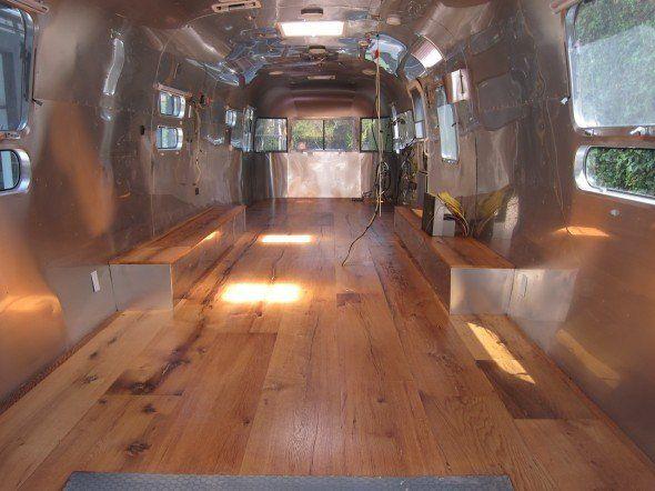 Wood Floor Airstream Pinterest