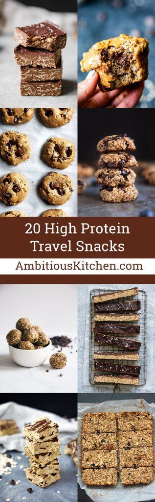 Healthy high protein snacks that are perfect for traveling! These homemade snacks have simple, wholesome ingredients and are packed with fiber and protein to keep you satisfied on-the-go. Take them on your next flight or road trip! #healthysnacksonthego