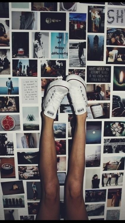 want to have a wall completely covered in pictures, quotes, posters, etc.
