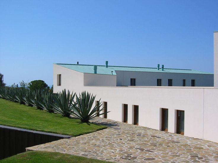 Casa Costanza, a S. Agata di Militello (ME); tetto in rame preinverdito. Progettista: arch. Vincenzo Melluso - Mellusoarchitettura S.r.l.