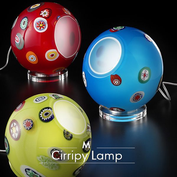 #MuranoGlass can be funny, innovative, and even affordable! Here's an example: the Cirripy swiveling table lamp.