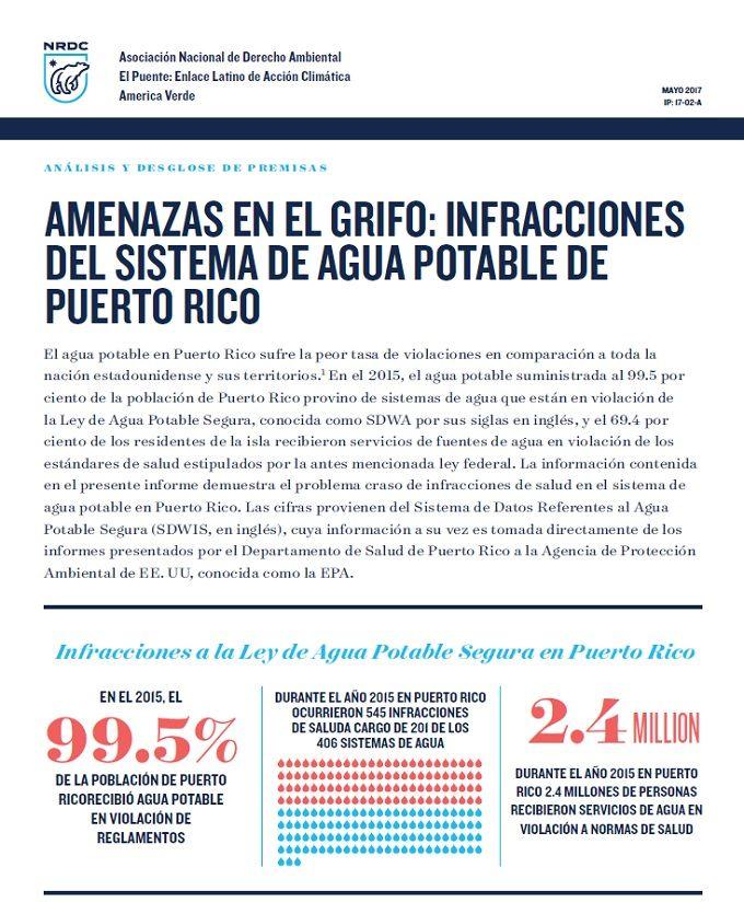 Informe sobre la calidad del agua en Puerto Rico - WAPA.tv - Noticias - Videos
