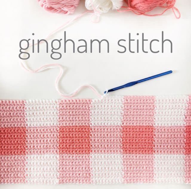 An easy crochet gingham stitch to create the perfect modern crochet gingham baby blanket. The hardest part is shopping for the right colors!
