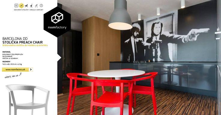 Inšpirujte sa realizáciou bratislavského interiéu s našimi dizajnovými stoličkami v kontrastnej farebnosti. Stoličky PREACH Chair ponúkame v šiestich zaujímavých odtieňoch.