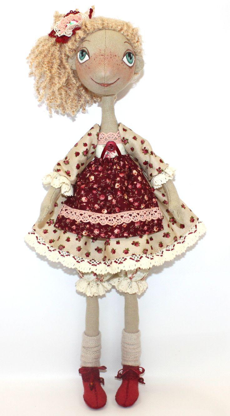 """Fiva  Текстильная интерьерная кукла """"Хозяюшка"""" ручная работа"""