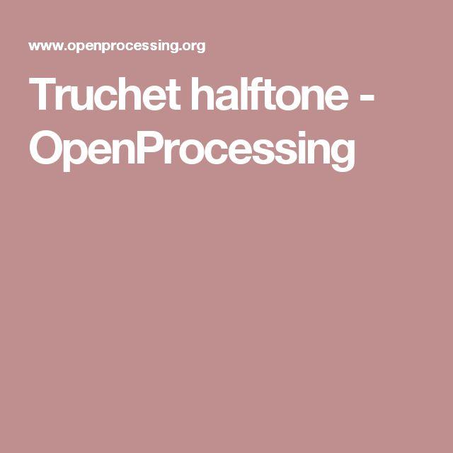 Truchet halftone - OpenProcessing