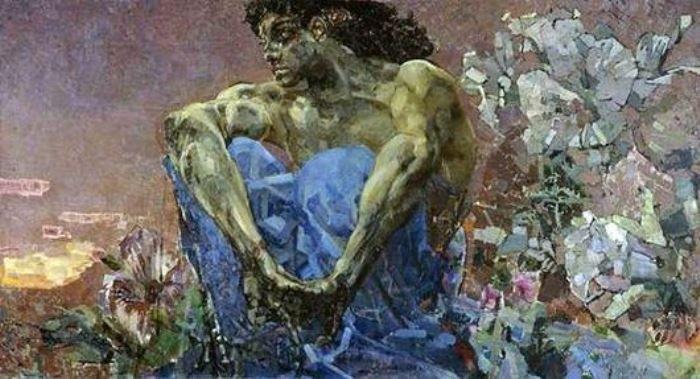 Михаил Врубель. Демон (сидящий), 1890 г.
