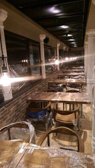 PROJECT ISTANBUL MODA PIER restaurant interior design ... BY Areş Peykari architects @aresarchitecture #architects #aresarchitecture  #architecture #architects #restaurant  #blok #kadıköy #istanbul  #proje #moda #project #concept #contract #bosphorus #sea #deniz #iskele