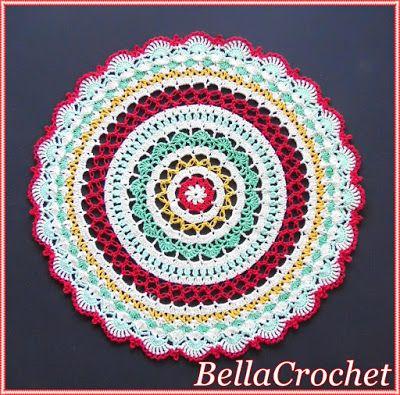Sweet Memories Mandala Doily free #crochet pattern