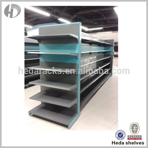 Chinese Canton Fair Best Seller Advertising Display Supermarket Steel Gondola Shelf