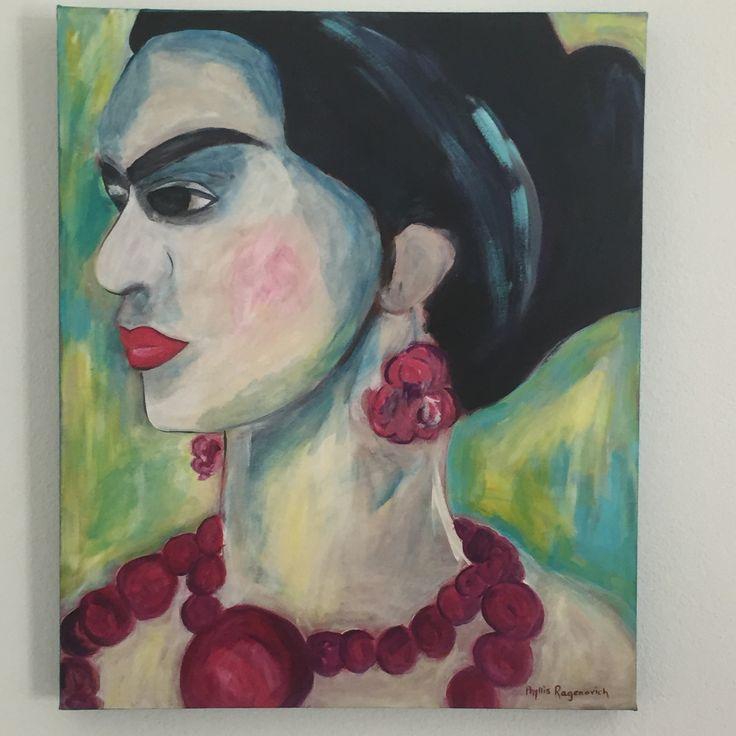 'Frida' by Phyllis Ragenovich Acrylic on canvas