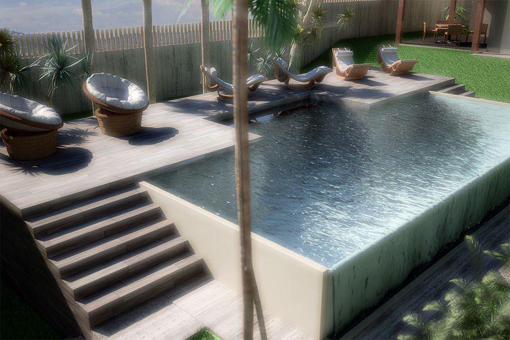 Rendering da progetto per residence in brasile. Piante e prospetti forniti