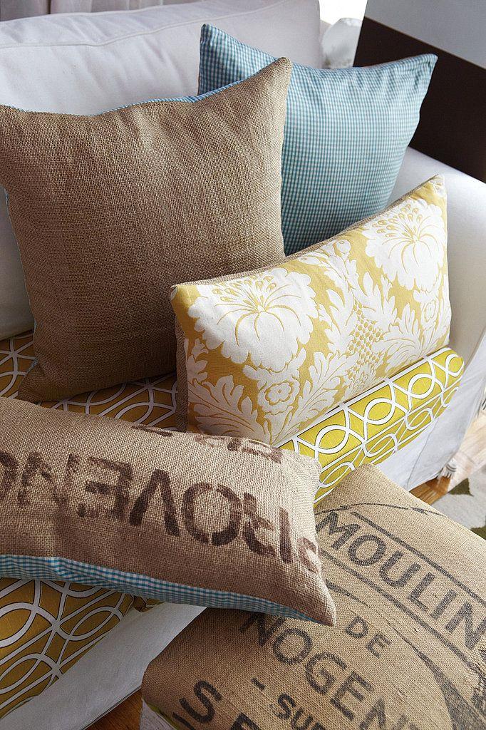 Couture Stretch. Cute PillowsBurlap ... & 165 best DIY Pillows images on Pinterest   Diy pillows Creative ... pillowsntoast.com