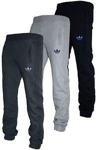 a nuevo para hombre adidas originals spo vellon chandal pantalones de chandal gimnasio de deportes