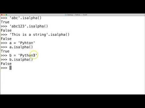Python Tutorial: Python Isalpha String Method #57