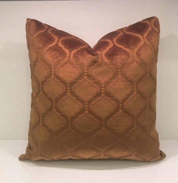 Luxury Cinnamon Velvet Throw Pillow Velvet Pillow Cover