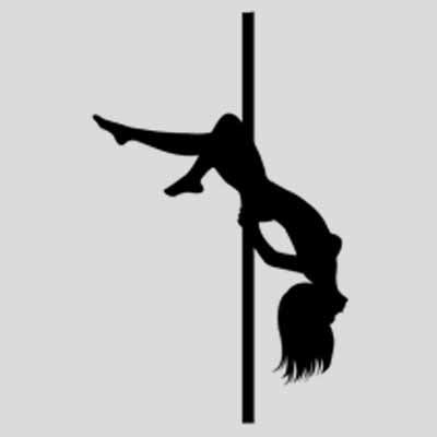 young naked stripper on pole