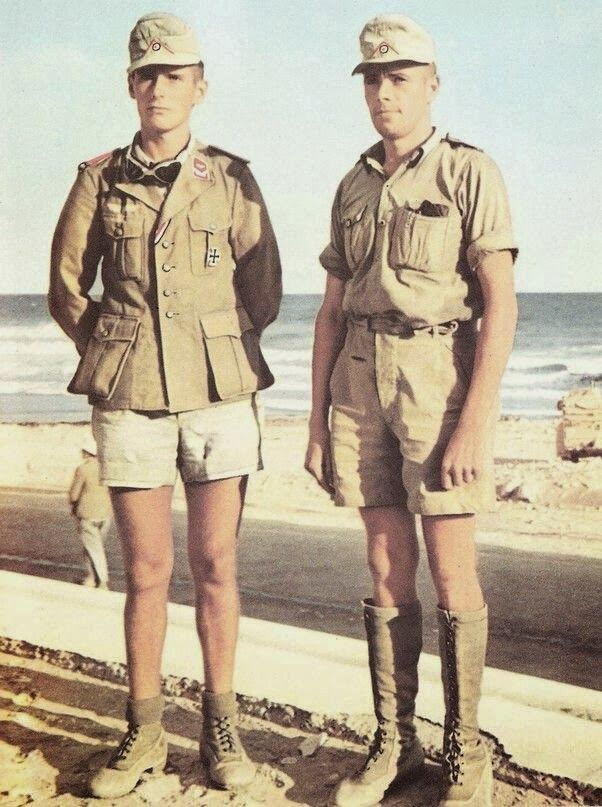 """Rommel's Afrika Korps. According to Henrik Ibsen (1828-1906) """"You should never have your best trousers on when you go out to fight for freedom and truth."""" Clearly this is why Rommel felt his men would perform better in these shorts."""