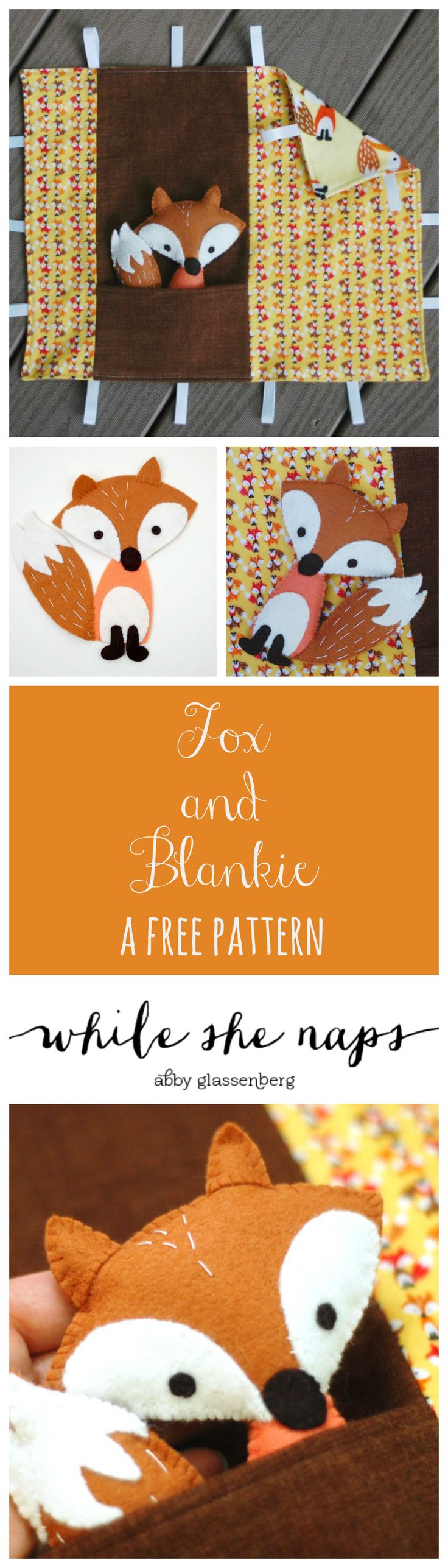 A free pattern for a Fox and Blankie play set.
