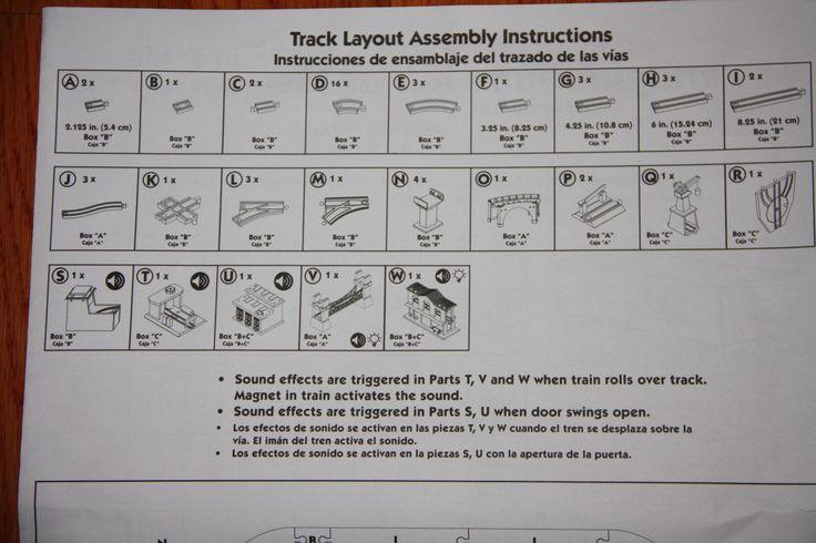 Imaginarium City Central Train Set Assembly Instructions - Parts