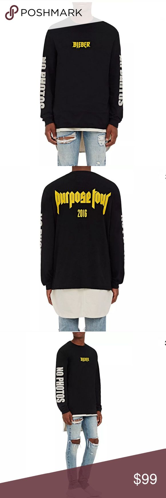 Justin Bieber Barneys Purpose Tour Shirt Brand Justin Bieber Barney's Exclusive Purpose Tour Long Sleeve T-Shirt Size Medium. This is 100% Authentic! I can provide picture of Receipt upon request. Don't be fooled by all the FAKE purpose shirts on eBay from PACSUN, H&M & China. The Purpose Tour Merchandise was Exclusive Collab with Barneys. Be one of the few to own this Barney's Justin Bieber Collab Shirt. Check Out Our eBay Store We Have Other Purpose Tour Merchandise. Any questions please…