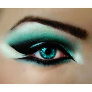 What fantasies are made of... sharp and icy blue eye make-up