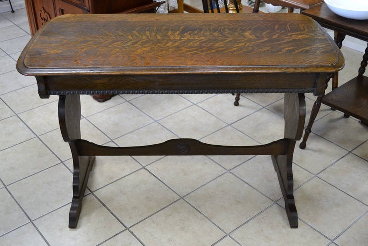 Library trestle table 1920s wouldn 39 t this make a glam for Glam dining table