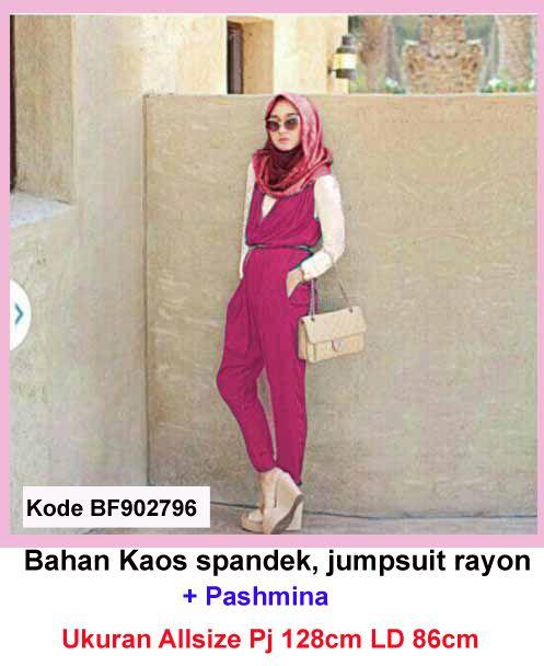 Baju Gamis Modern Terbaru - Detail produk model Baju Gamis Remaja Jumpsuit 796: Bahan : Spandek Rayon Kode : BF902796 Ukuran : Dalaman, Panjang 56cm, Lingkar dada 86cm Ukuran : Luaran