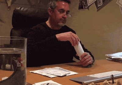"The story behind the gif: The guy wouldn't stop opening his daughter's mail so she mailed ""herself"" a glitter bomb to teach him a lesson"