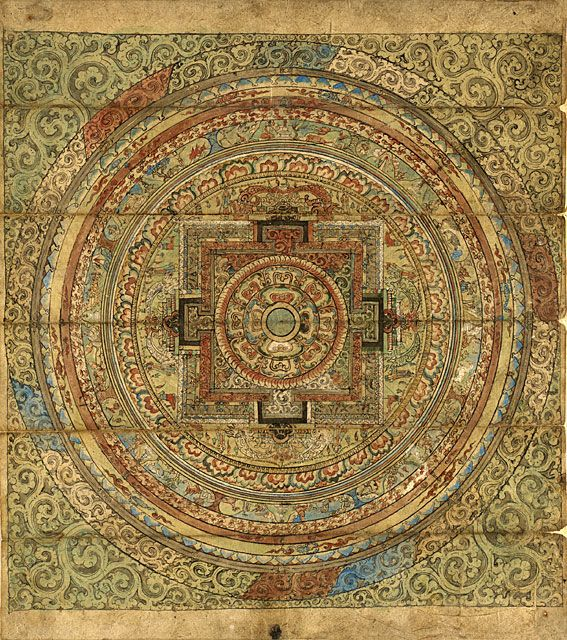 spiral asian buddhist mandala