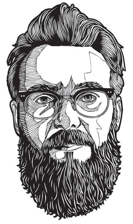 Vector Portraits | Line Portraits by Danilo Agutoli | Check out more great content at: www.emrld14.com
