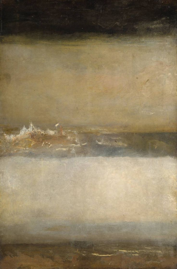 'Three Seascapes' (c.1827) by Joseph Mallord William Turner  #abstract #smllove