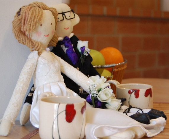 Wedding gift dolls made by photo bride and groom by apacukababa