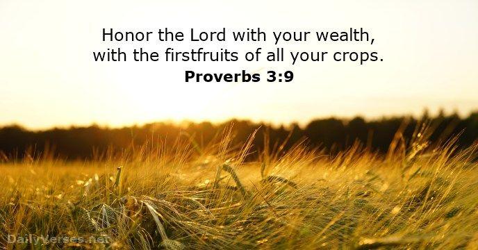 Proverbs 3:9 - dailyverses.net