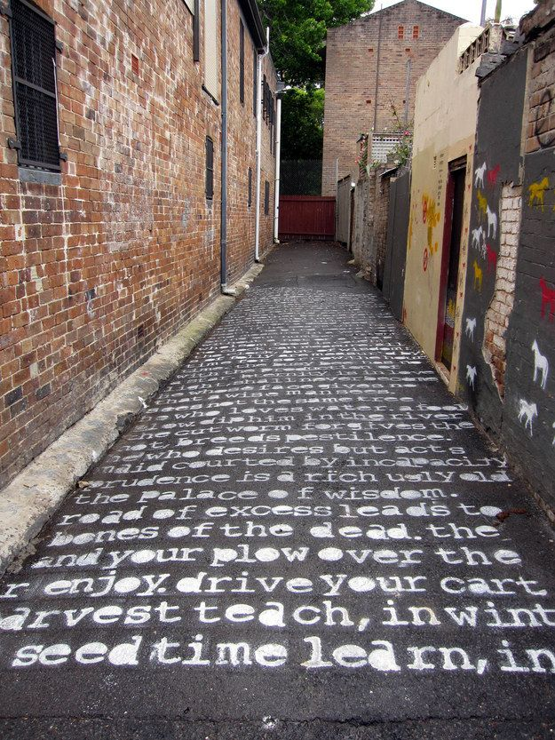 The Marriage Of Heaven And Hell by William Blake in Sydney, Australia. Click image for more literary graffiti and visit the slowottawa.ca boards >> http://www.pinterest.com/slowottawa/