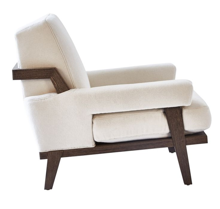 Cigar Lounge Chair  Transitional, Contemporary, MidCentury  Modern, Upholstery  Fabric, Wood, Armchair by Kimberly Denman