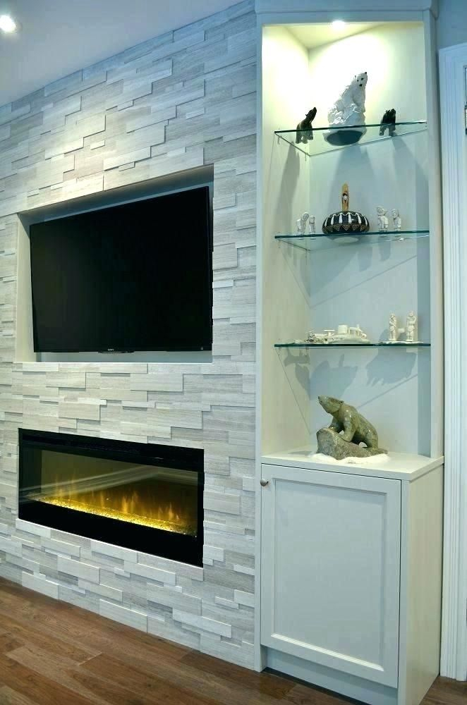 Built In Electric Fireplace Insert Ins Custom Tv Stand B Master