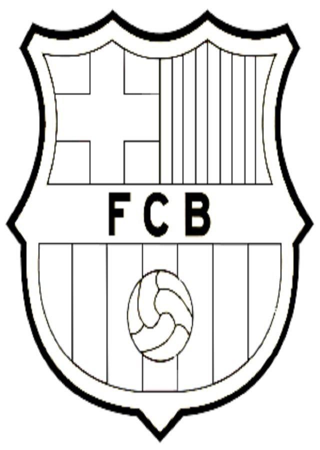 Escudos Para Colorear Escudo Barça Futbol Para Colorear Escudo