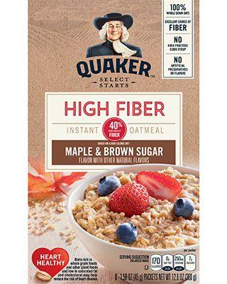 High Fiber: Maple & Brown Sugar | Quaker Oats | Sugar ...