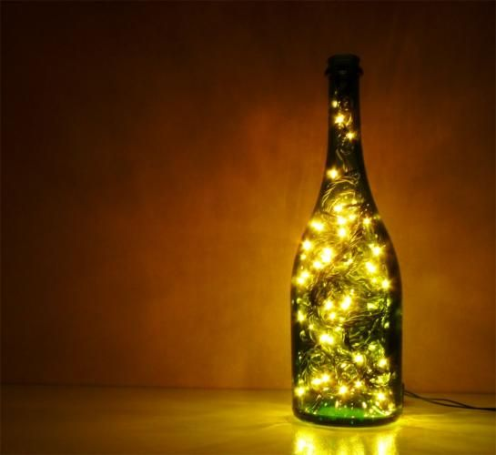 Idea Luces De Navidad En Botella De Vino Ideas De