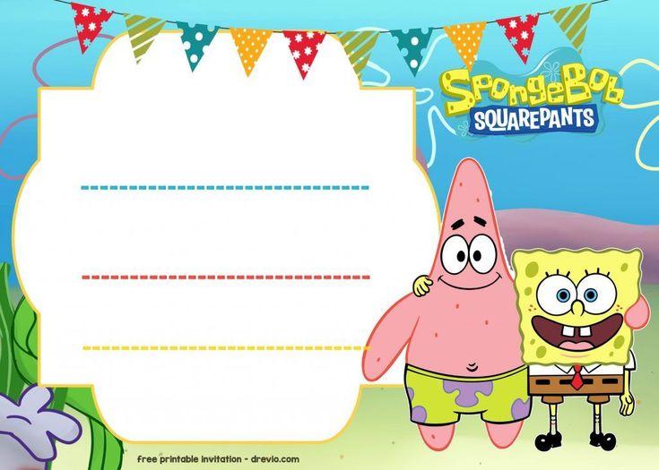 FREE Spongebob Birthday Invitation Template - FREE ...