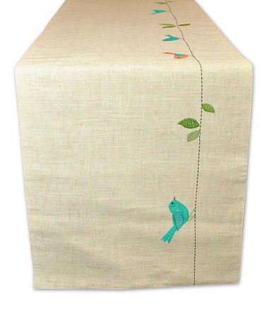 Another great find on #zulily! Early Bird Embroidered Table Runner by Design Imports #zulilyfinds
