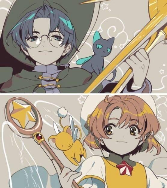 Eriol and .. Sakura or Shaoran?!? *Eyes* Sakura Green