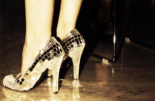 disco ball party shoes
