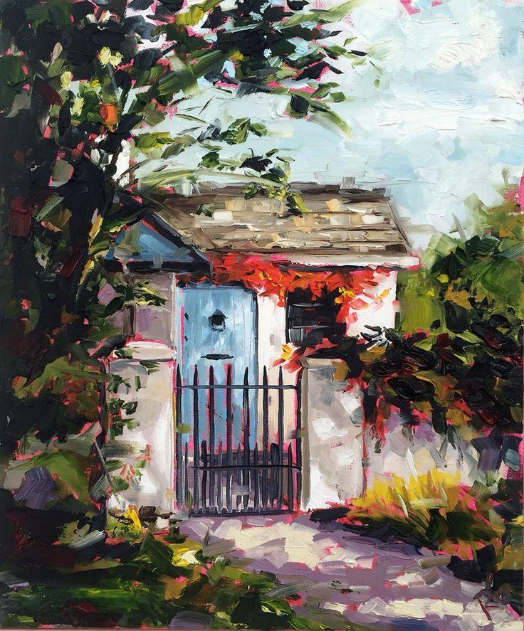 Rocky Valley Drive 30x25cm oil on canvas by Irish artist Róisín O'Farrell